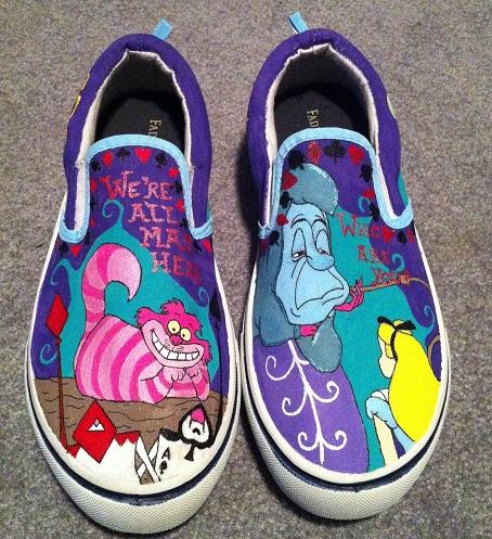 Alice in Wonderland Handpainted Shoes