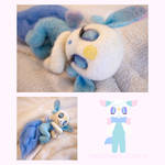 Sleepy cloud Felt doll