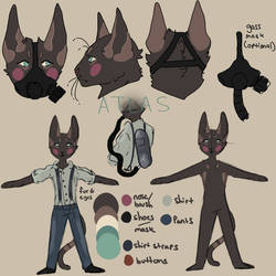 Atlas reference sheet (OC) by Afritt