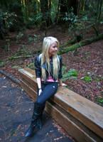Girl on bench by Datasmurf