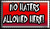 No Haters Stamp