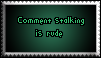 Comment Stalking Stamp by Shadowhedge1001
