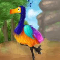 Tall bird by Garmmon