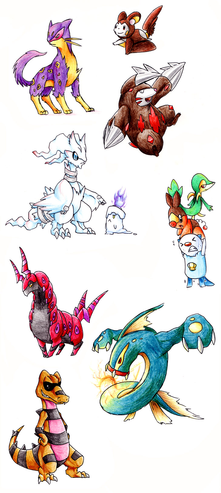 Some Unova Pokemon by Garmmon
