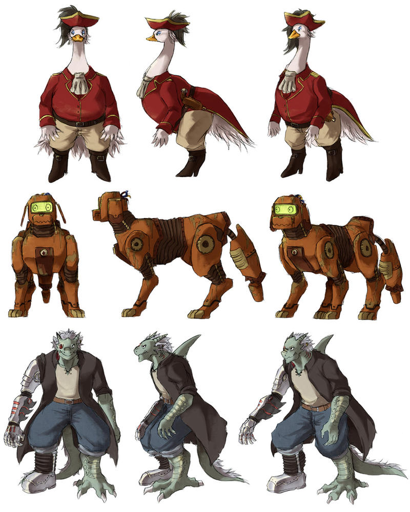 treasure planet character redesigns by Garmmon on DeviantArt