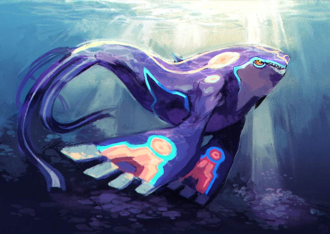 Alpha kyogre by garmmon on deviantart for Real life fishing games