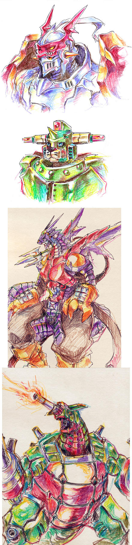 Colour pencil Digimon by Garmmon