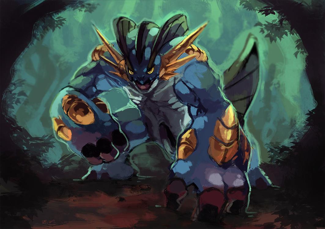 Mega swampert by garmmon on deviantart - Louka pokemon ...