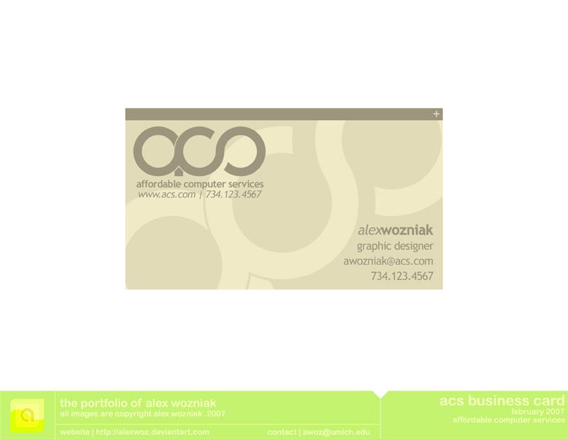 ACS Business Card by alexWoz on DeviantArt