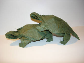 Origami Pond Turtles by dragonfish