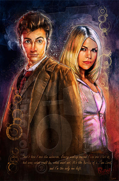 10th Doctor and Rose by jonpinto