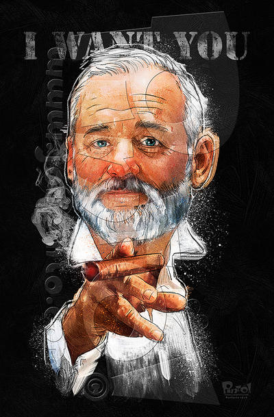Bill Murray by jonpinto