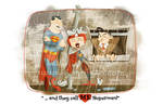 Lucy and Superman by jonpinto