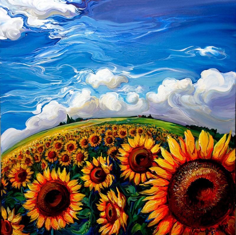 Sunflower World by Laurazee