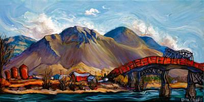 Kamloops Red Bridge by Laurazee