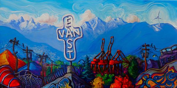 East Van Panorama Wide by Laurazee