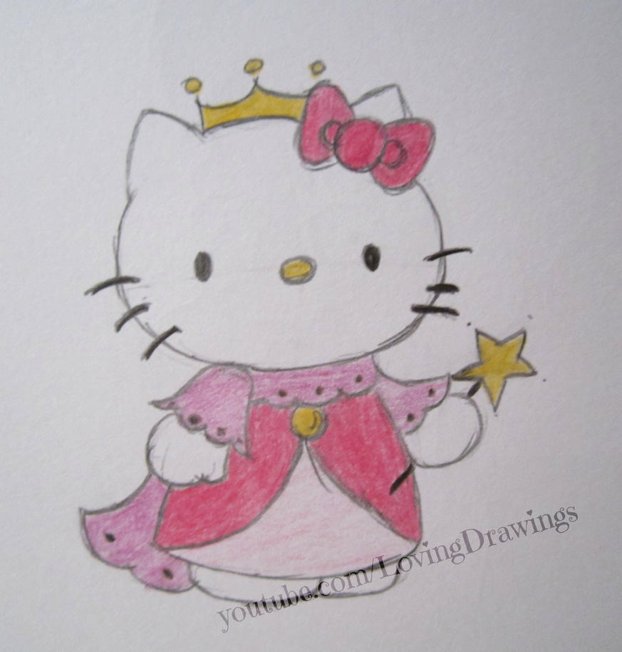 Hello kitty as a princess by lovingdrawings on deviantart - Princesse kitty ...