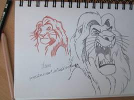 Mufasa Sketch by LovingDrawings