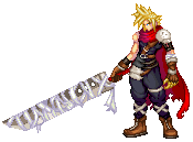 Kingdom hearts Cloud strife by Hearteclipse
