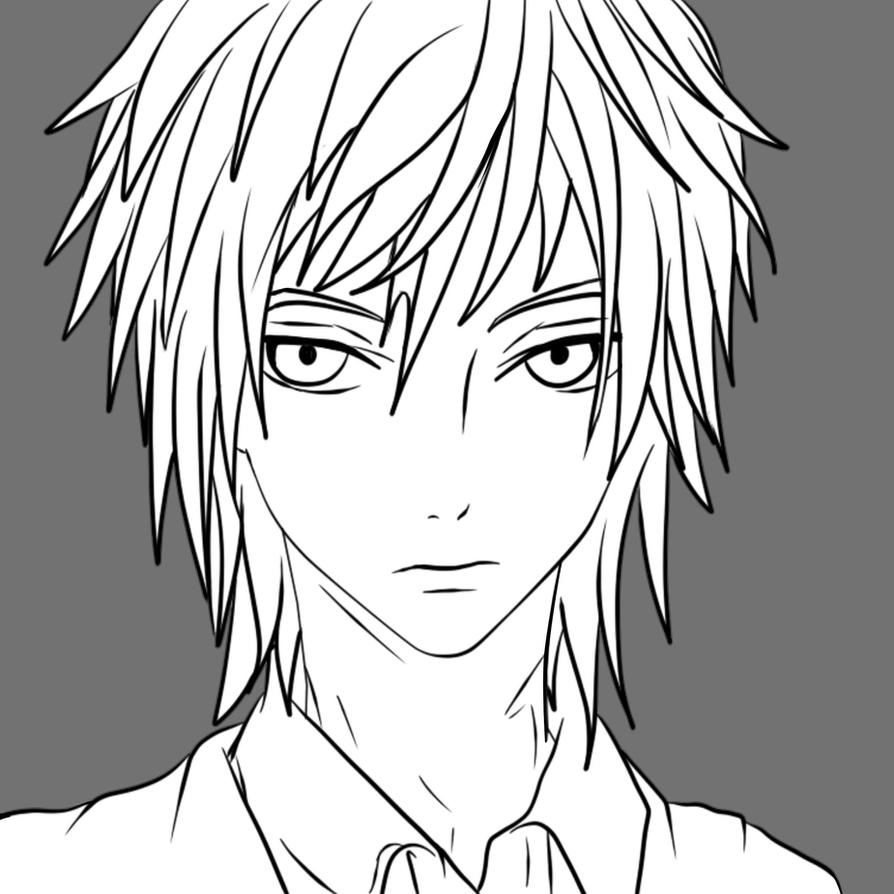 Line Art Images Free : Anime male free to use line art by darkevilmuffens jay on