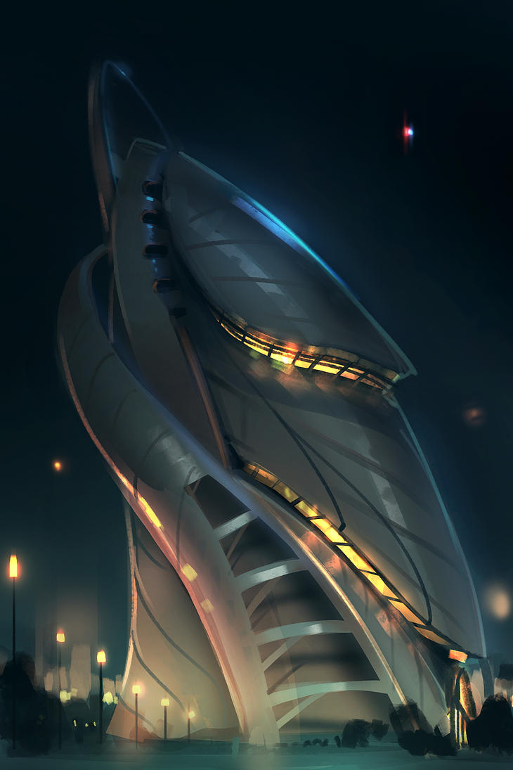 Daily Spit Paint Ultramodern Architecture by Hazzard65 on DeviantArt