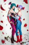Morrigan Aensland and Lilith