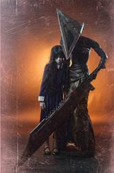 Alessa and Pyramidhead(fem)
