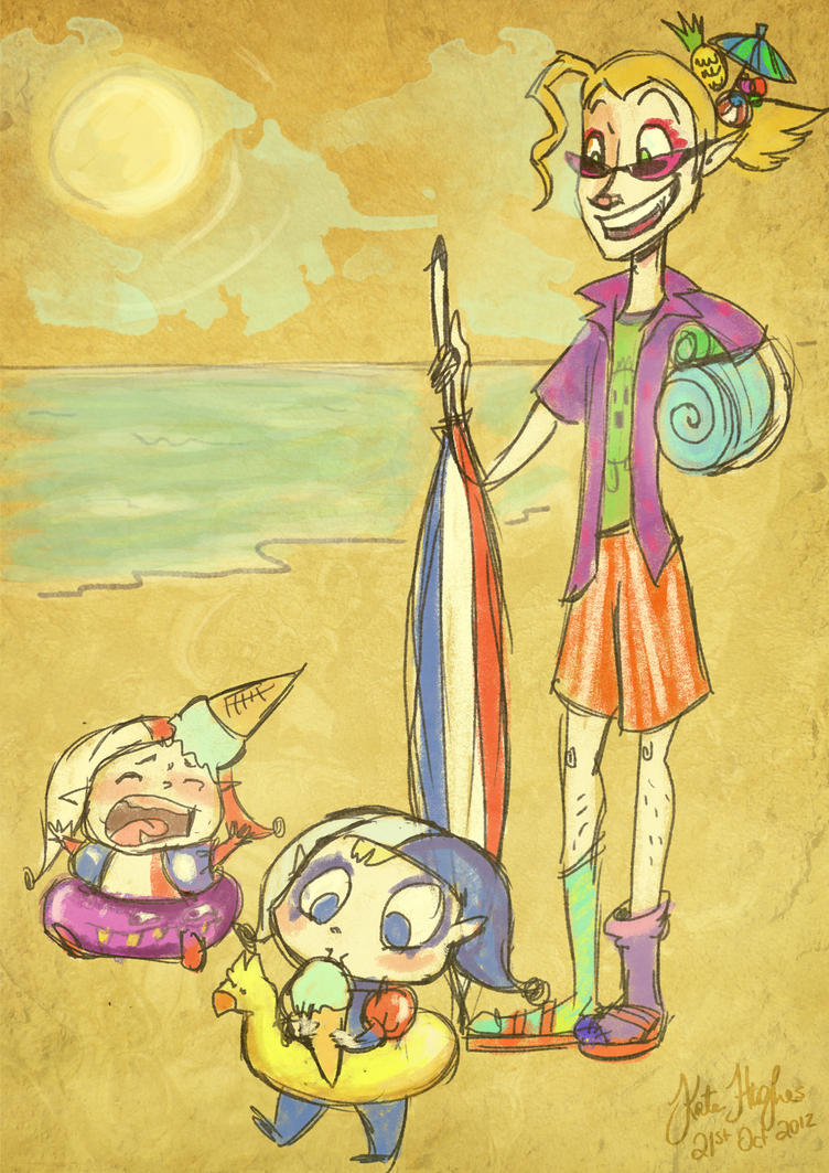 Kefka: Beach Bums by Alias-Hugo