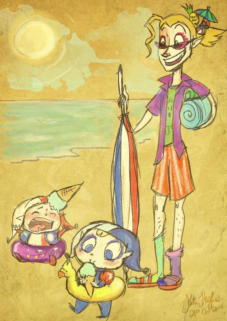 Kefka: Beach Bums by Alias-Hugo