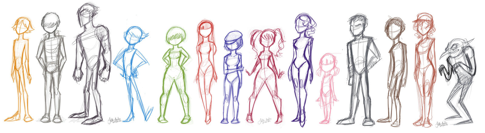 Character Design Body Shapes : Images about reference human on pinterest
