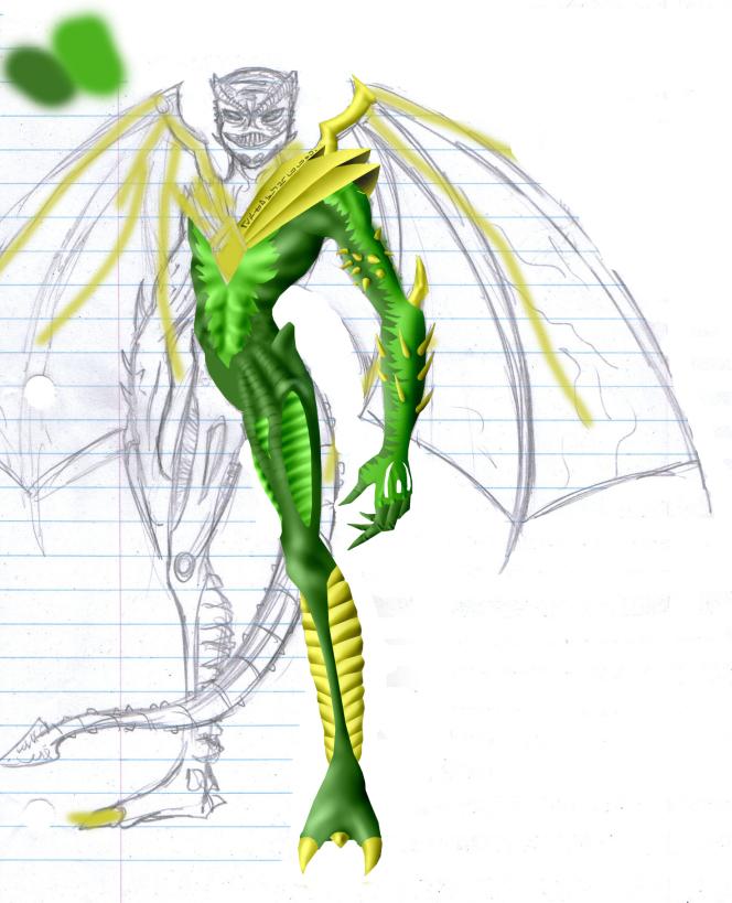 Green Ranger WIP by Distephano