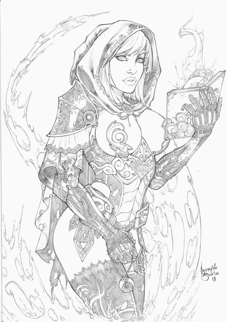 Warrior witch by IzonetoSousa