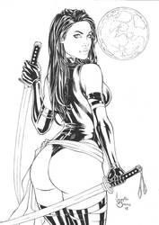 Psylocke ink by IzonetoSousa