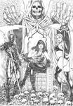 Commission - Death God Flash, Death and Lady Death