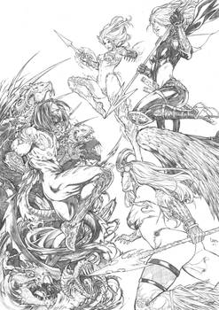 The Darkness, Witchblade, Magdalena and Angelus