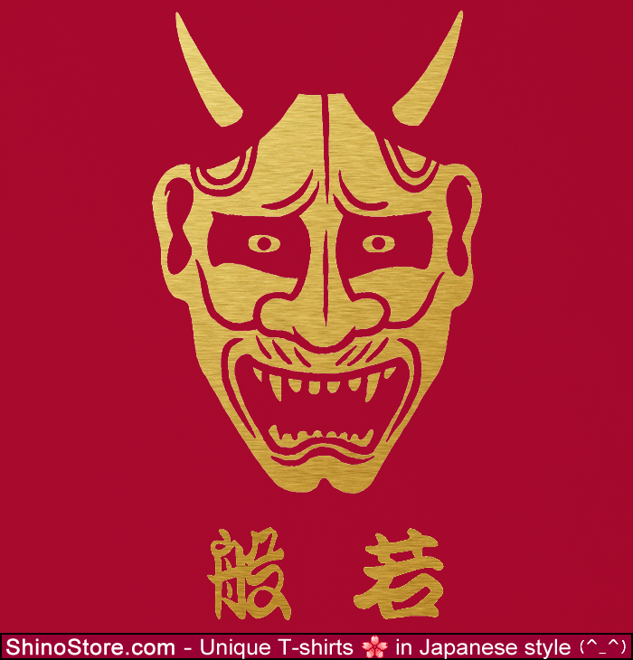 hannya japanese demon design tshirt by shinostore on