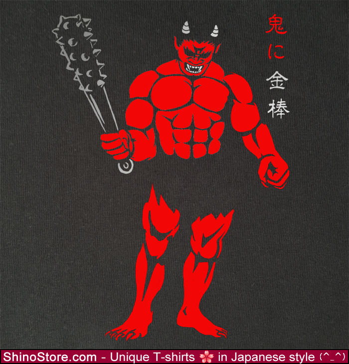 AKA ONI Japanese Demon Ogre Design By ShinoStore