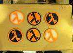 Half Life symbol coasters