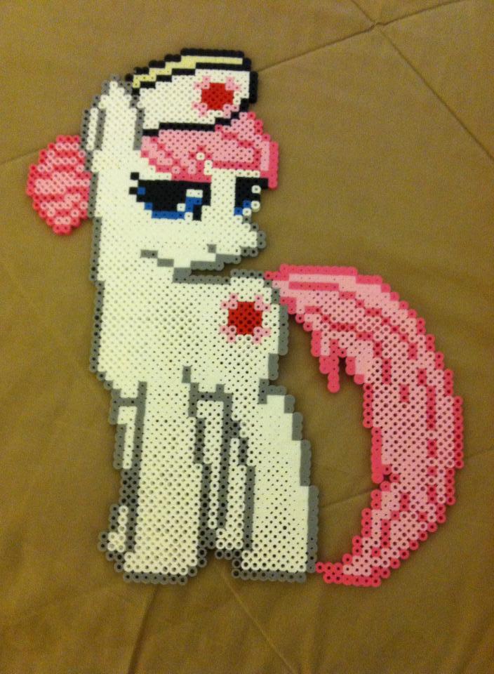 Nurse Redheart Perler by dorkking12