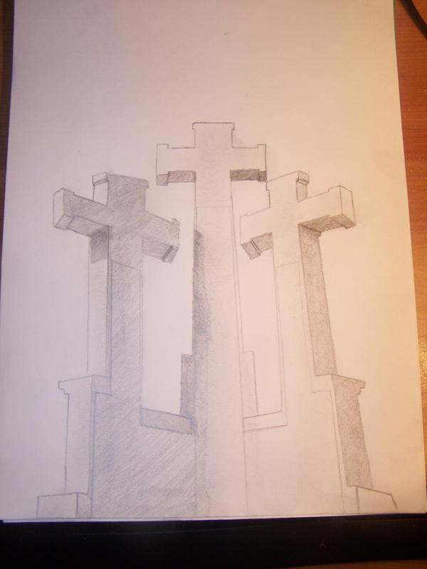Hill of Crosses Tattoo Three Crosses on a Hill