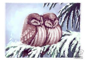 owls by Amorelia