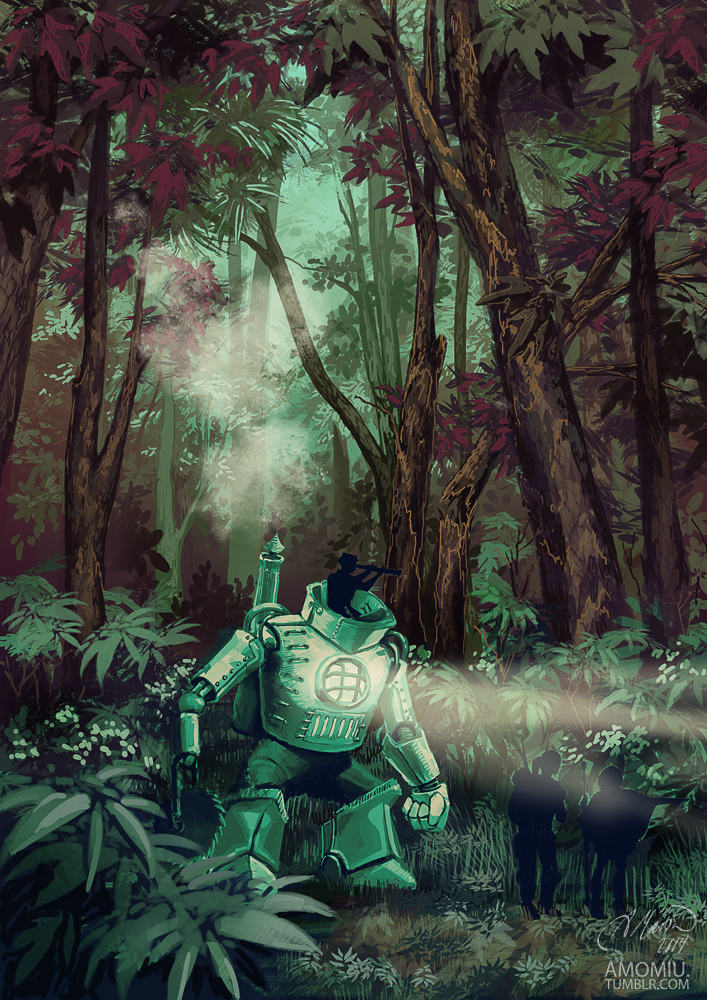 lost in the forest by Amorelia