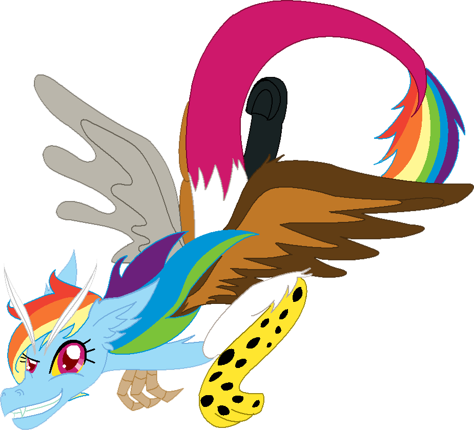 Draconequus Rainbow Dash by cdla