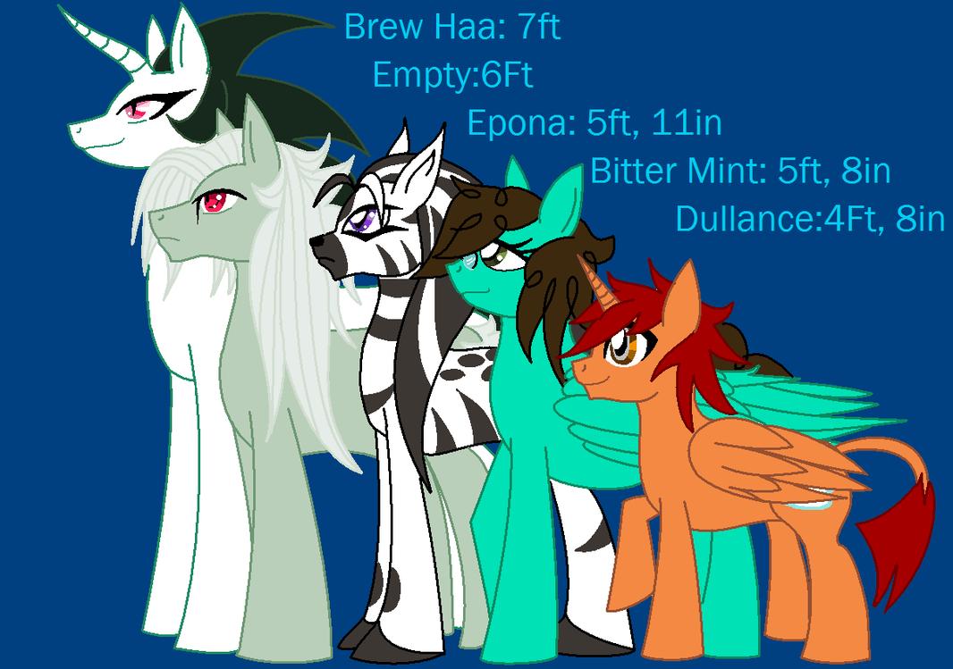 OC Pony height Chart by cdla