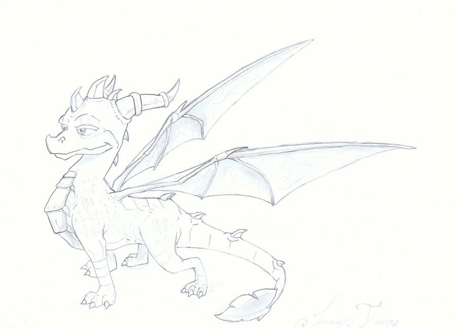 Spyro the dragon by spyboythespeedster on deviantart for Spyro the dragon coloring pages