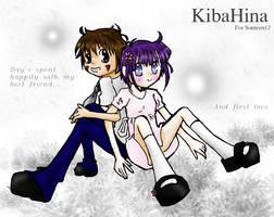 KibaHina giftart for Sonteen12 by FishHeadThe3rdAndCo