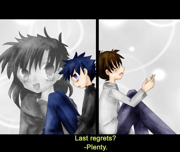 """Last Regrets?"" -Shinichi by FishHeadThe3rdAndCo"