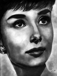 Audrey Hepburn by seabreeze-doodles