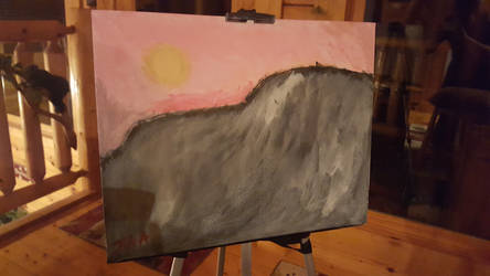 Mountain Sun Rise (My 1st Painting)