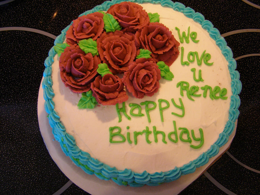 Red Rose Birthday Cake by darcyscakes on DeviantArt